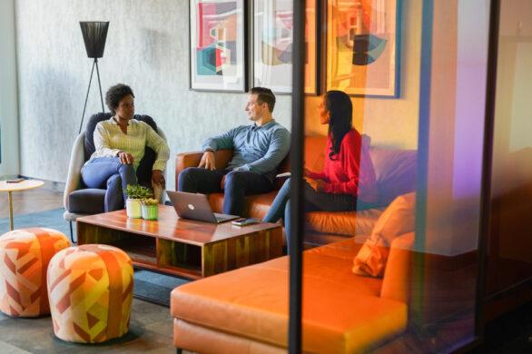 landmark coworking space social zone