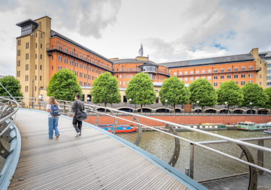 walk across the river to landmarkspace bristol temple quay office