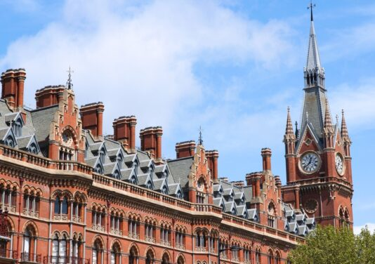 top of st pancras station building