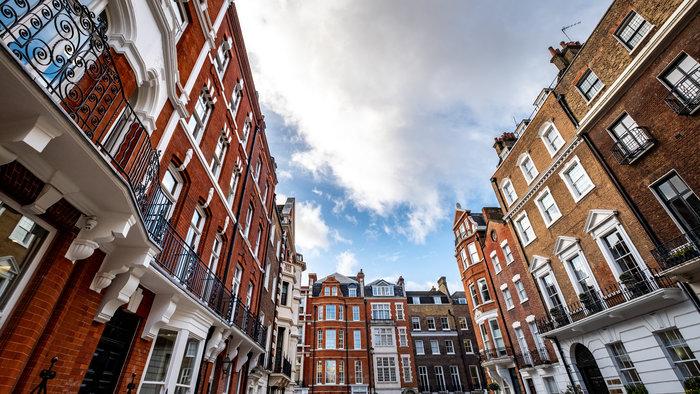 photograph of Marylebone Georgian buildings