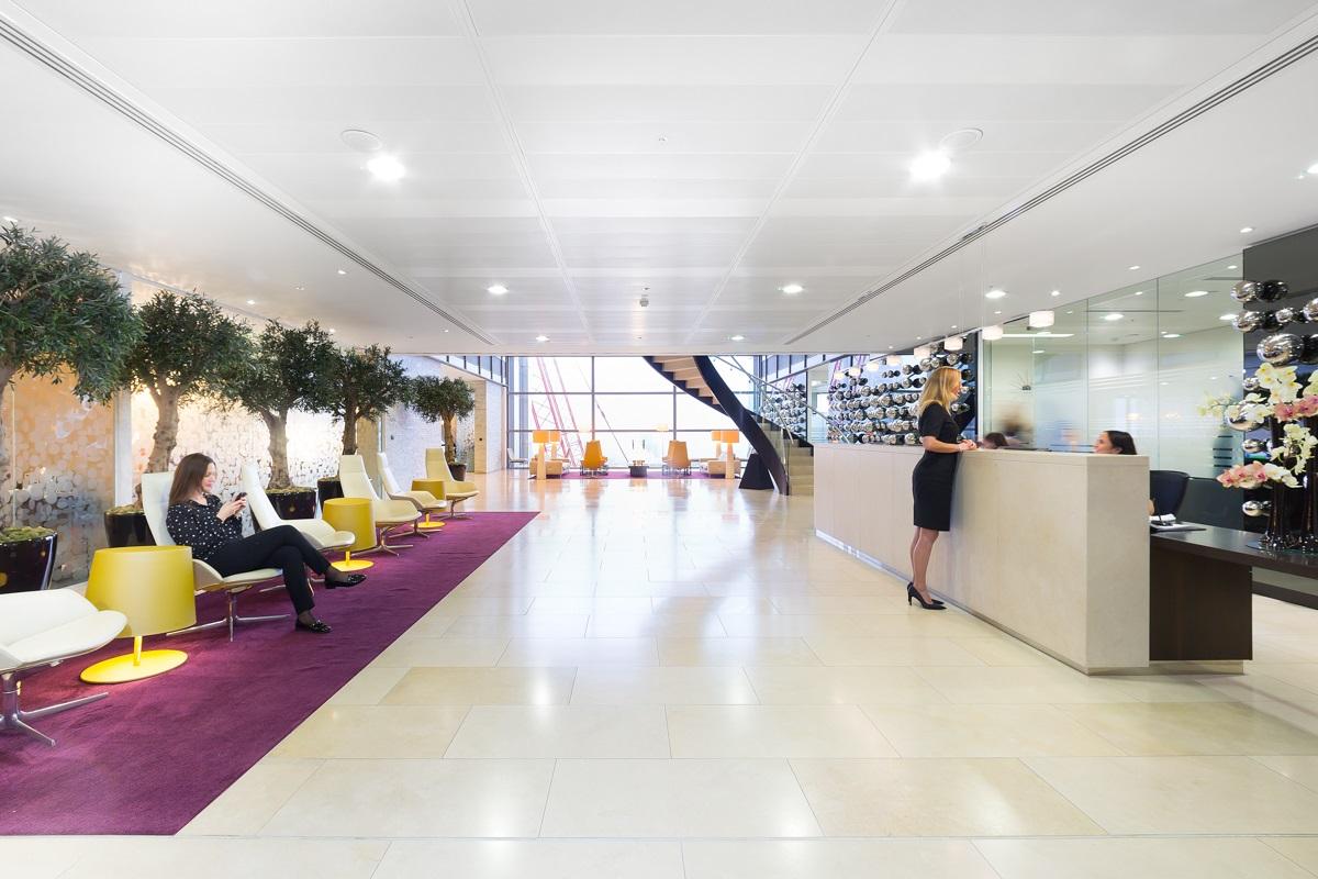 Landmark office reception area