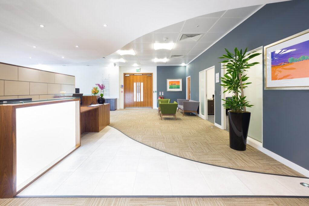 Leeds city centre office space reception