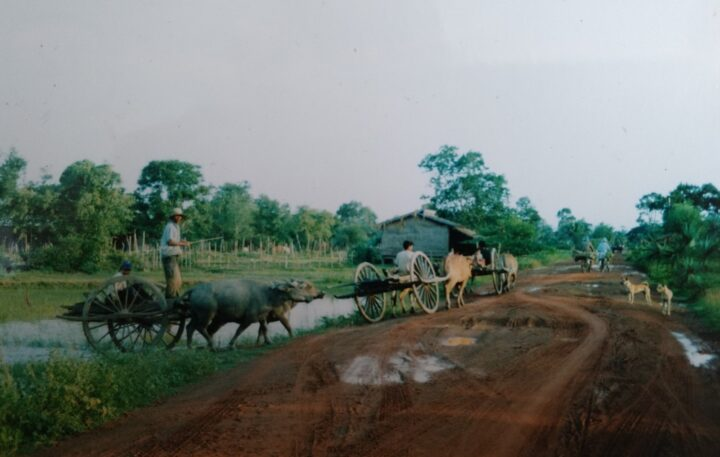 Country scene in Cambodia