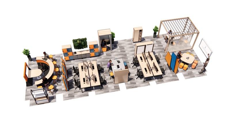 landmark office space agile walkthrough 07