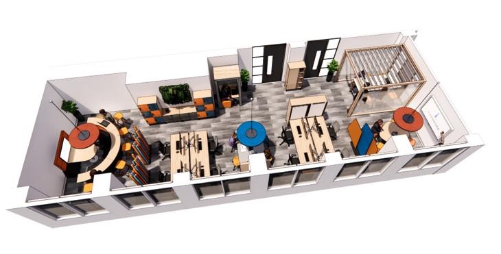 landmark office space agile walkthrough 06
